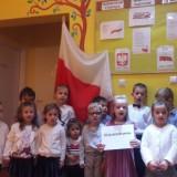 Udział w akcji patriotycznej Szkoła do hymnu, Dzień Niepodległości w Bajkowej Krainie